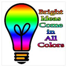 Bright Ideas Wall Art Poster
