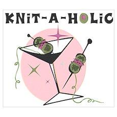 Knit-A-Holic Wall Art Poster