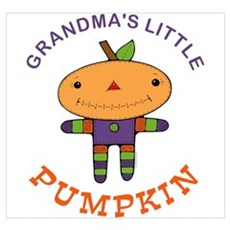 Grandma's Little Pumpkin Wall Art Canvas Art