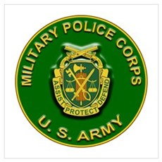 US Army Military Police Corps Wall Art Poster