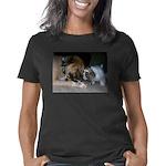 Women's Cap Sleeve T-Shirt - button