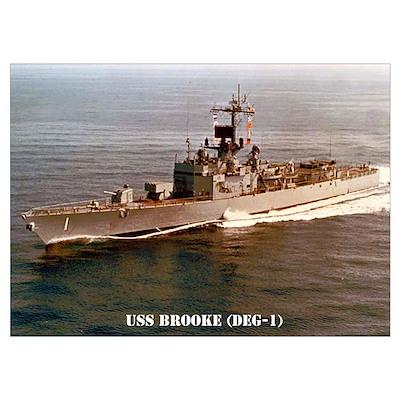 USS BROOKE Wall Art Poster