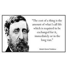 """The cost of a thing..."" Wall Art Framed Print"