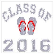 Class Of 2016 Flip Flop Wall Art Poster