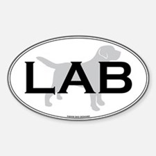 Labrador Retriever Oval Decal