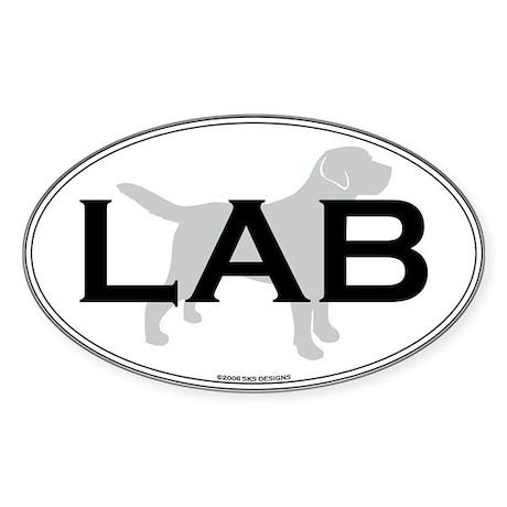 Labrador Retriever Oval Sticker