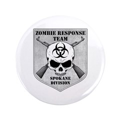 "Zombie Response Team: Spokane Division 3.5"" Button"