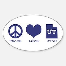 Peace Love Utah Decal