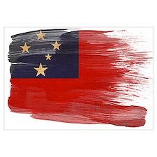Samoa Flag Wall Art