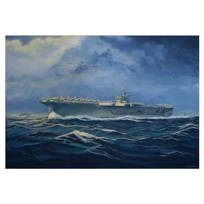 USS John F. Kennedy Wall Art Framed Print