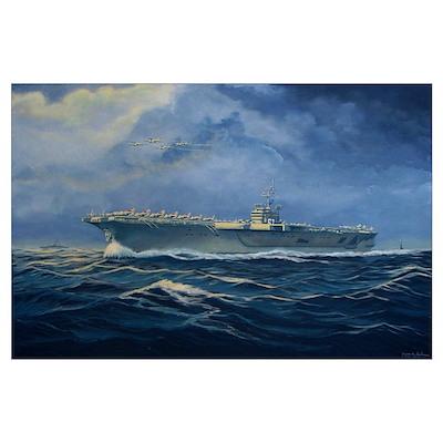 USS John F. Kennedy Wall Art Poster