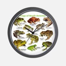 Frogs of North America Wall Clock