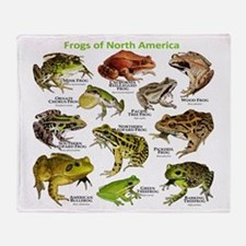 Frogs of North America Throw Blanket