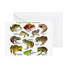 Frogs of North America Greeting Card