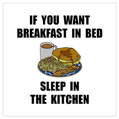 Sleep In Kitchen Wall Art Canvas Art
