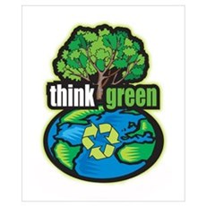 Think Green Wall Art Poster