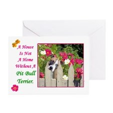 Funny Pit bull terrier items Greeting Cards (Pk of 10)