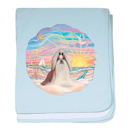 OceanSunrise-ShihTzu#10 baby blanket