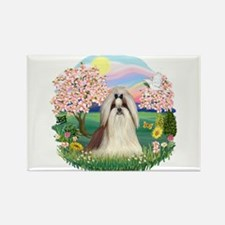 Blossoms-ShihTzu#10 Rectangle Magnet