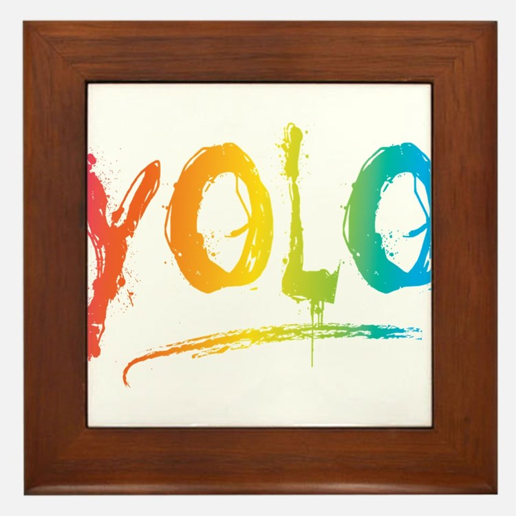 Cute Yolo Framed Tile
