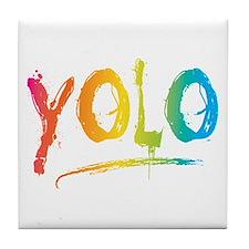 Cute Yolo Tile Coaster