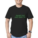 not fat Men's Fitted T-Shirt (dark)