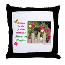 Cute Miniature pinscher Throw Pillow