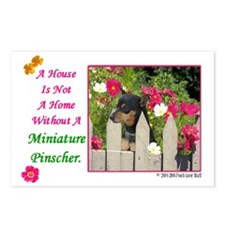 Cute Minpin Postcards (Package of 8)