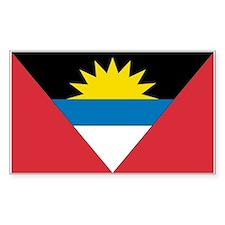 Antigua & Barbuda Rectangle Decal