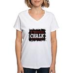 Wearing Chalk Women's V-Neck T-Shirt