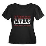 Wearing Chalk Women's Plus Size Scoop Neck Dark T-