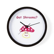 Got Shrooms? Wall Clock