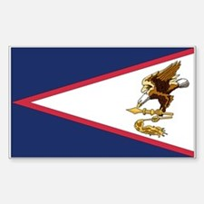 American Samoa Rectangle Decal
