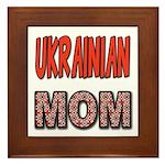 Ukr. Mom Red Framed Tile