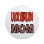 Ukr. Mom Red Ornament (Round)