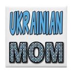 Ukr. Mom Blue Tile Coaster