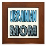 Ukr. Mom Blue Framed Tile