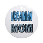 Ukr. Mom Blue Ornament (Round)