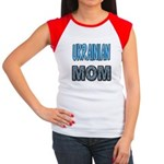 Ukr. Mom Blue Women's Cap Sleeve T-Shirt