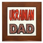 Ukr. Dad Red Framed Tile