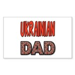 Ukr. Dad Red Sticker (Rectangle)