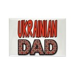 Ukr. Dad Red Rectangle Magnet (10 pack)