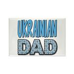Ukr. Dad Blue Rectangle Magnet