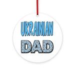 Ukr. Dad Blue Ornament (Round)
