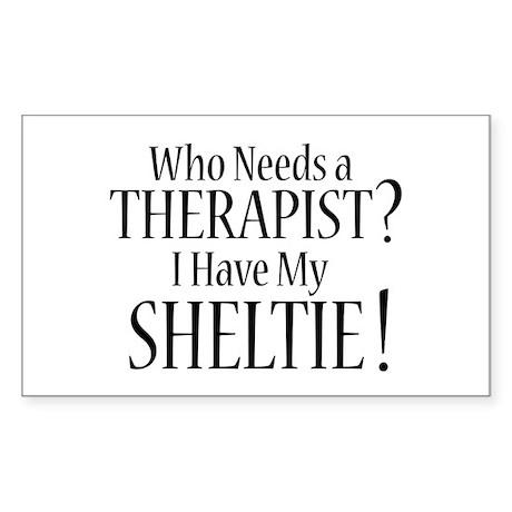 THERAPIST Sheltie Sticker (Rectangle)
