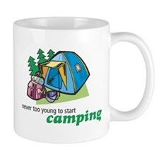 Never Too Young to Start Camping Mug