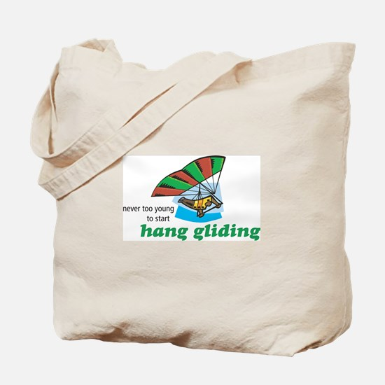 Never Too Young to Start Hang Gliding Tote Bag