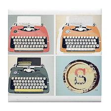 Unique Typewriter Tile Coaster