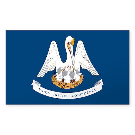 Louisiana Sticker (Rectangle)