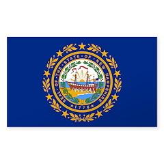 New Hampshire Sticker (Rectangle)